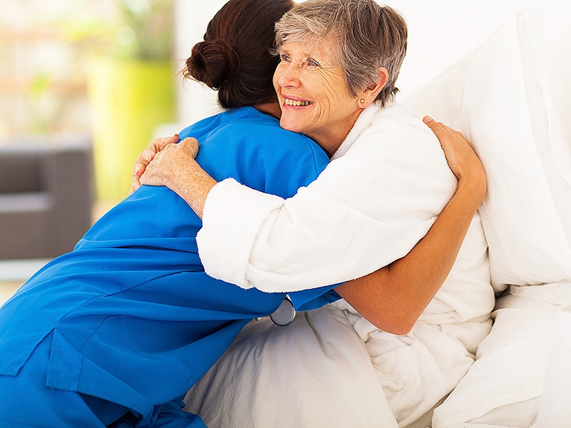 is it ok for a nurse to hug a patient
