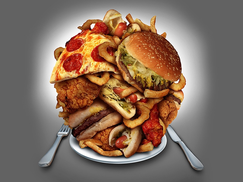 Unhealthy Food Plate Alcoholic Hep C Patien...