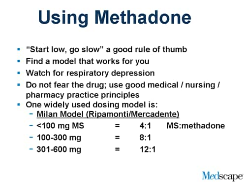 methadone. Using Methadone