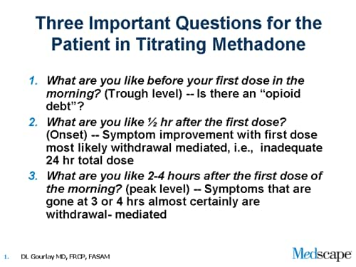 methadone. for Methadone Titration