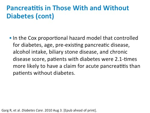 relationship between diabetes and pancreatitis