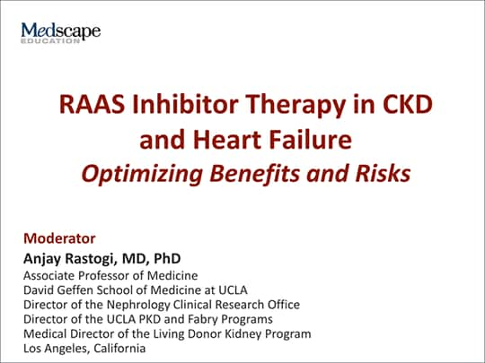 RAAS Inhibitor Therapy In CKD And Heart Failure