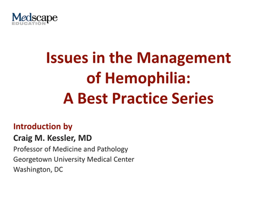 an introduction to the issue of hemophilia Introduction to sociology/health and medicine  most attention on the issue has been given to the health  alternative approaches to birth and hemophilia).