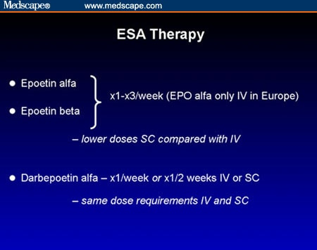 Slide 25: ESA Therapy