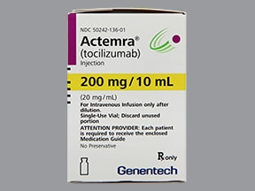 Actemra Intravenous Uses Side Effects Interactions