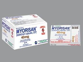 Myorisan Oral Drug Information On Uses Side Effects
