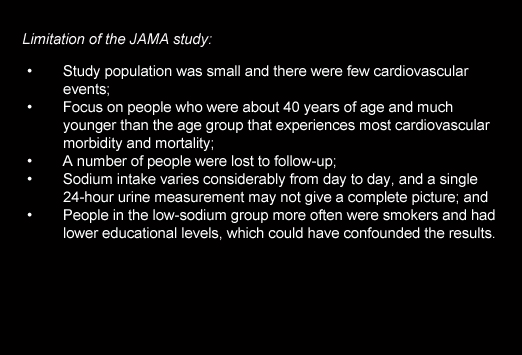 Salt Intake Not Associated with Mortality or Risk of ...