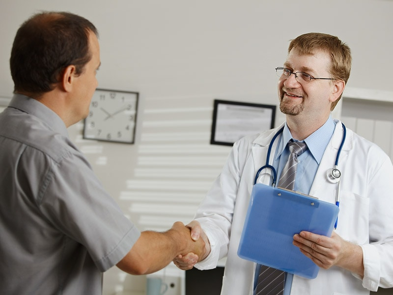 Patient Contact Shake Hands Hug Fist Bump Or Just Smile