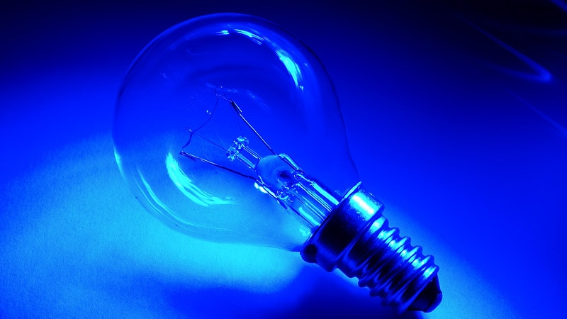 Image result for blue light bulbs for stress relief